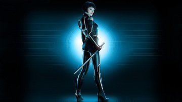 Olivia Wilde in Tron wallpaper